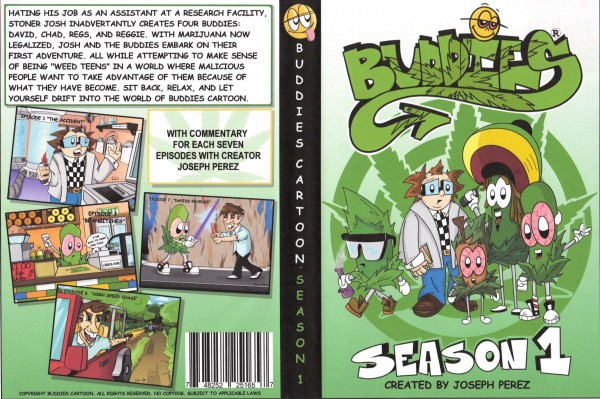 Buddies Cartoon Season 1 DVD cover.