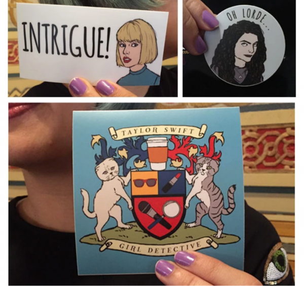 Taylor Swift: Girl Detective Kickstarter reward - stickers.