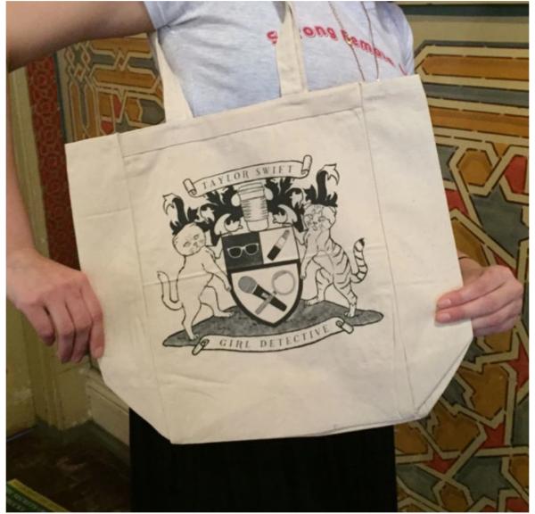 Taylor Swift: Girl Detective Kickstarter reward - book bag.