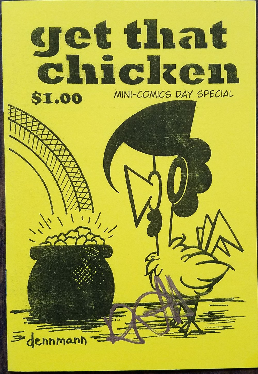 """Get That Chicken Mini-Comics Day Special by Denny """"Dennmann"""" Riccelli"""
