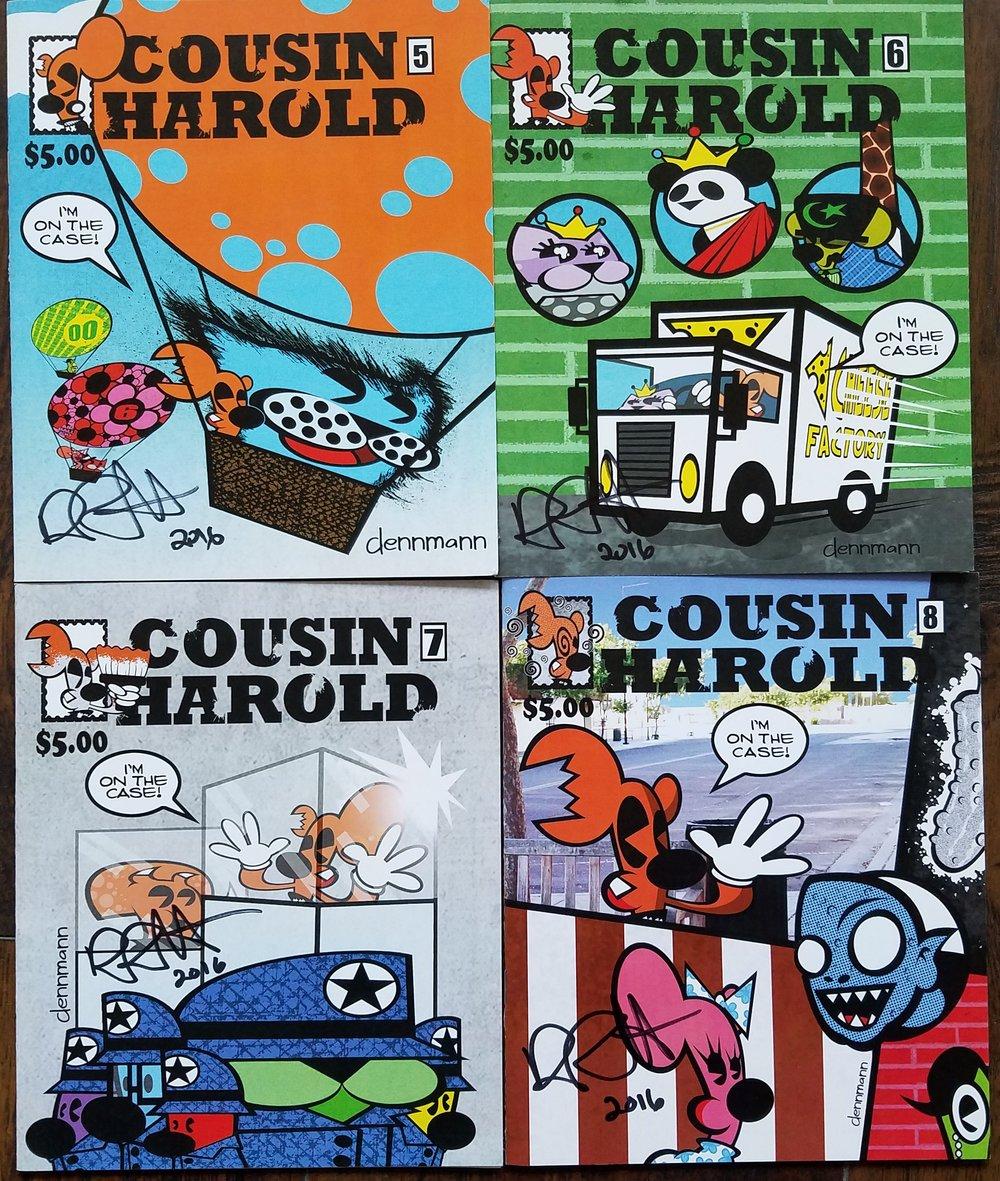 "Cousin Harold by Denny ""Dennmann"" Riccelli issues #5, #6, #7, & #8."