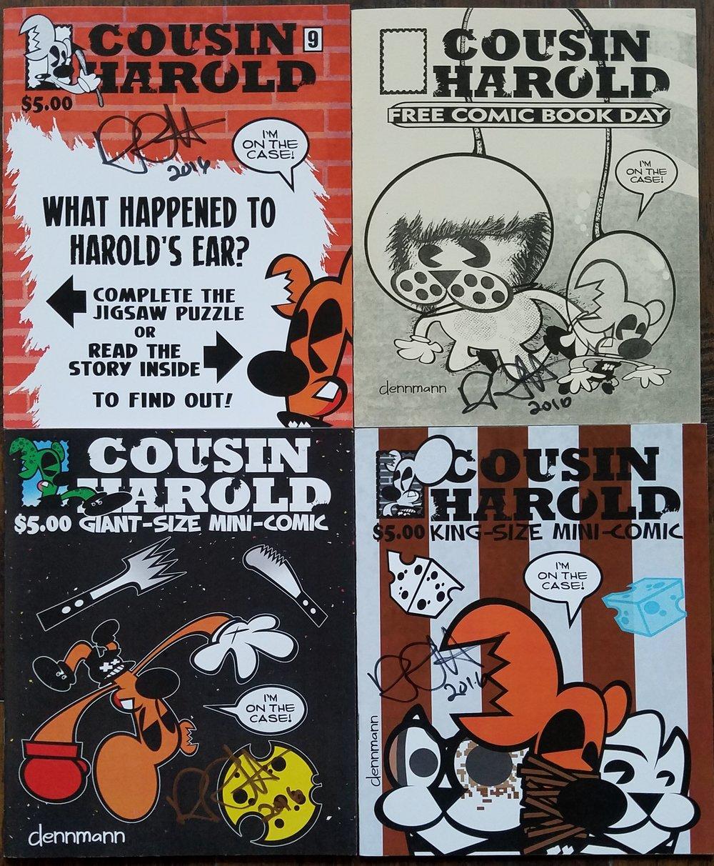 "Cousin Harold by Denny ""Dennmann"" Riccelli: #9, FCBD Special, Giant-Size Mini-Comic, & King-Size Mini-Comic."