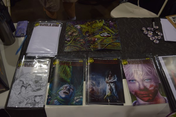 The Nightshade Comics table at Phoenix Comic Con 2016.