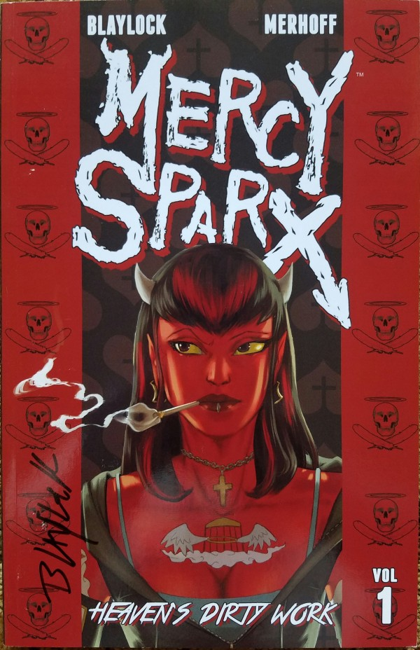 Mercy Sparx: Heaven's Dirty Work TPB from Devil's Due Entertainment.