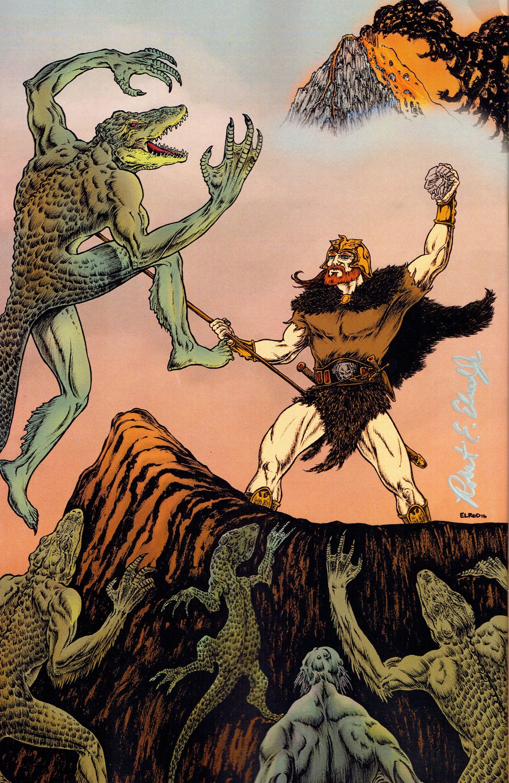 Saga of Metal #1 back cover by Robert Elrod.
