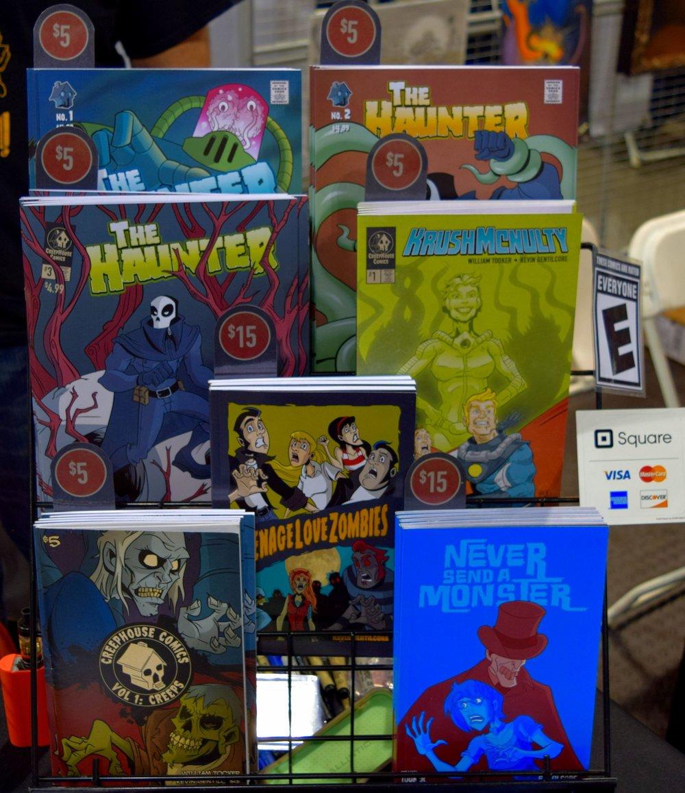 Comics from Kevin Gentilcore at Denver Comic Con 2016.