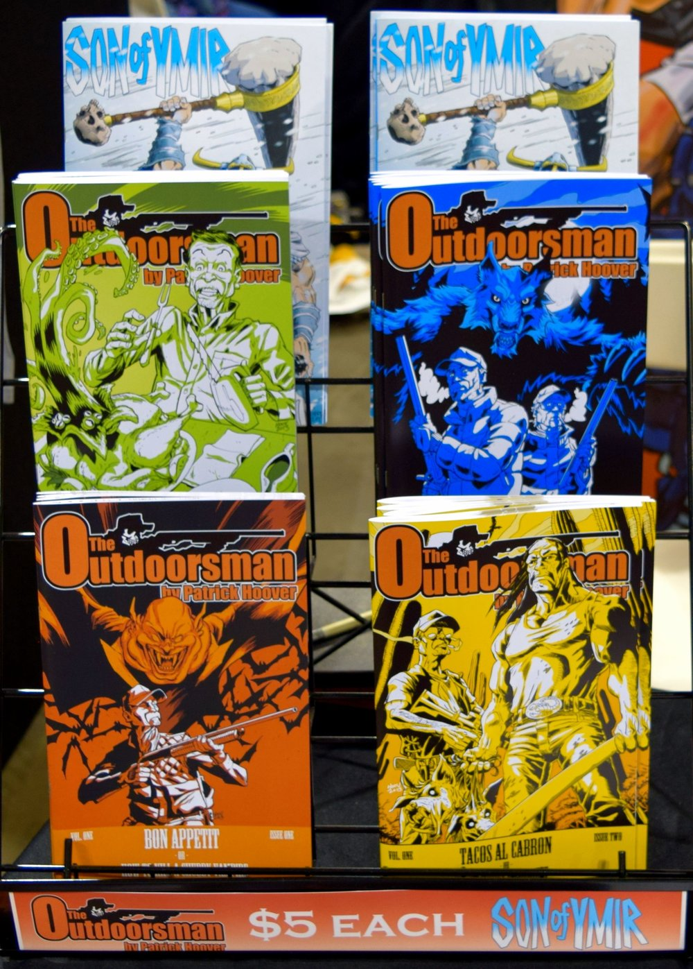 Comics from Patrick Hoover at Denver Comic Con 2016.
