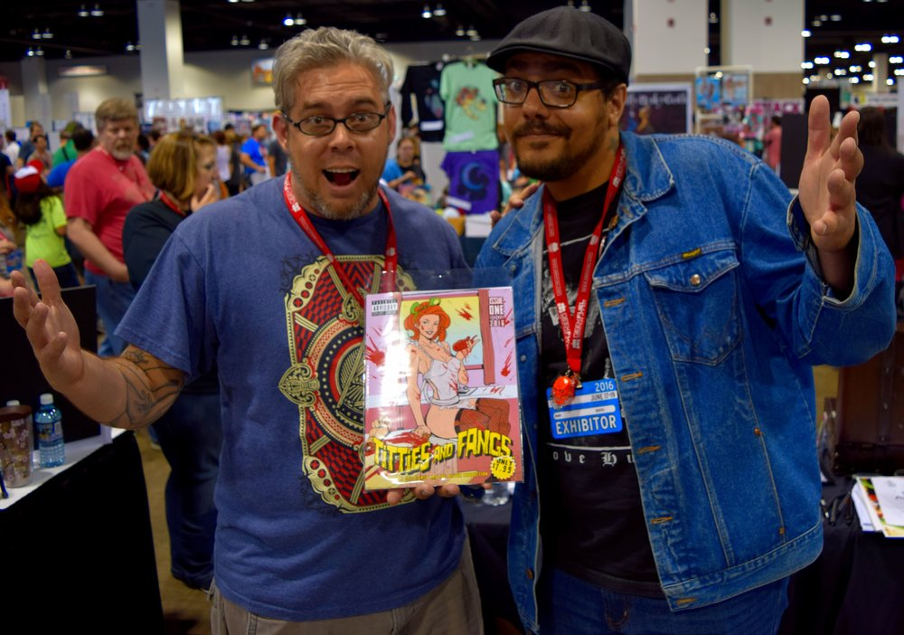 Joe Becker (left) & Joe Oliver (right) at Denver Comic Con 2016.