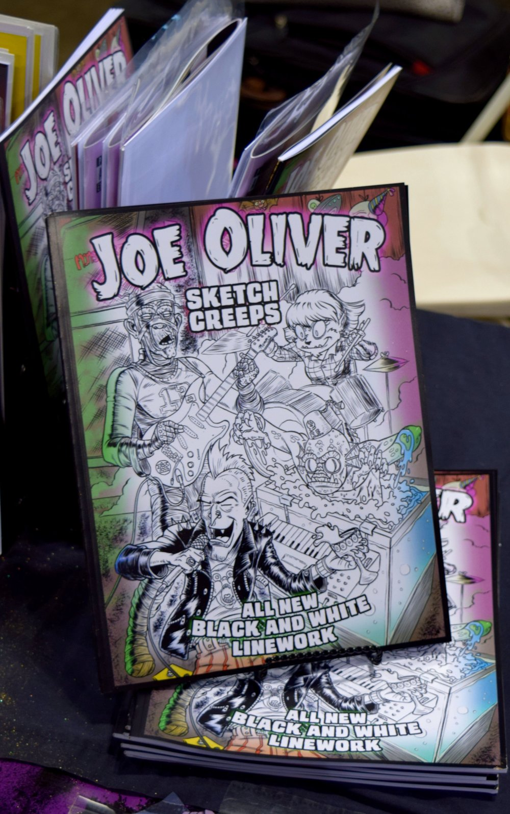 Joe Oliver Sketch Creeps sketch book.