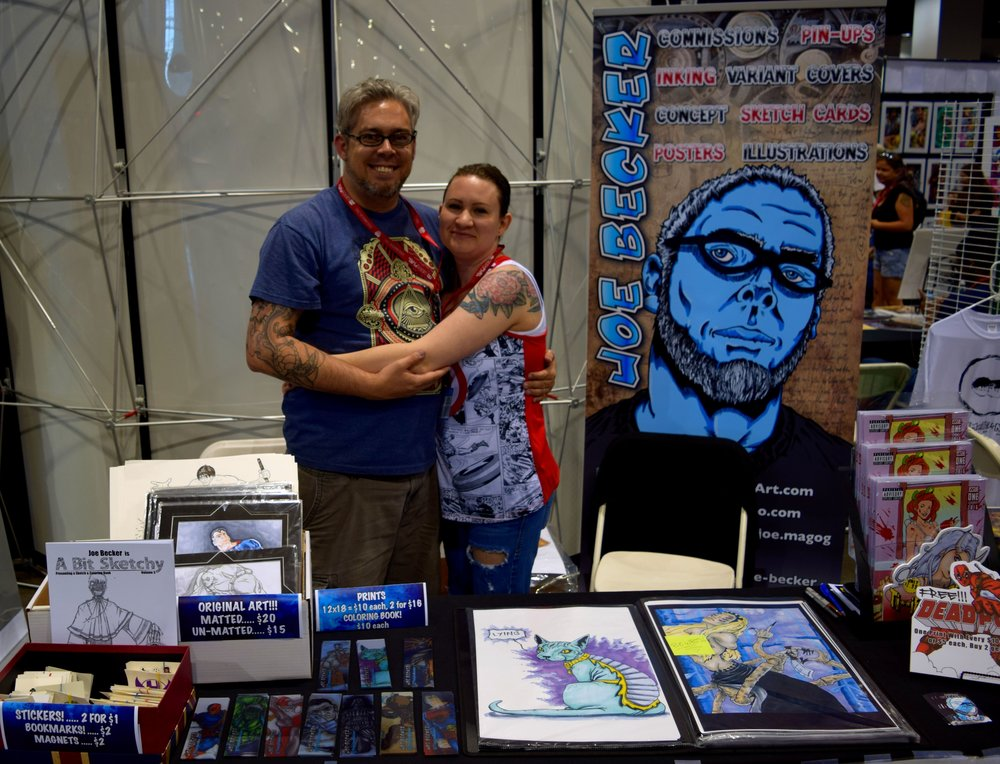 Joe Becker with his wife at Denver Comic Con 2016.