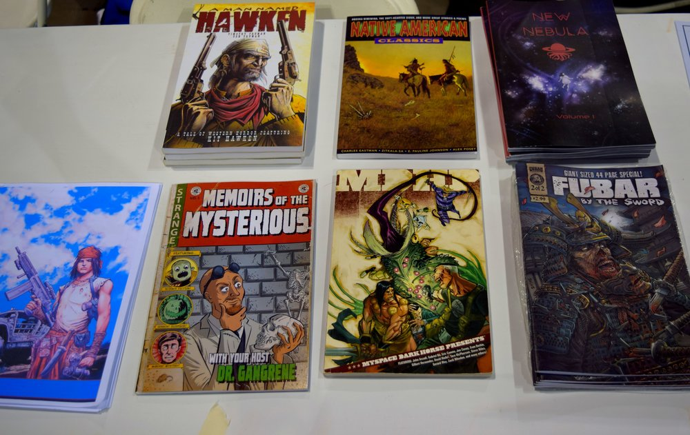 Ben Truman's comics at Denver Comic Con 2016.