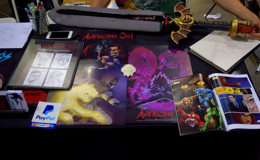 American Oni comics and prints from Carl Buchanan at Denver Comic Con 2016.