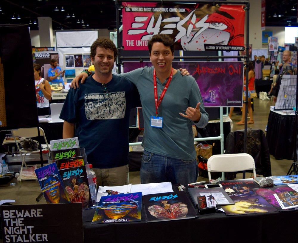 Alex Delia & David Espy at Denver Comic Con 2016.
