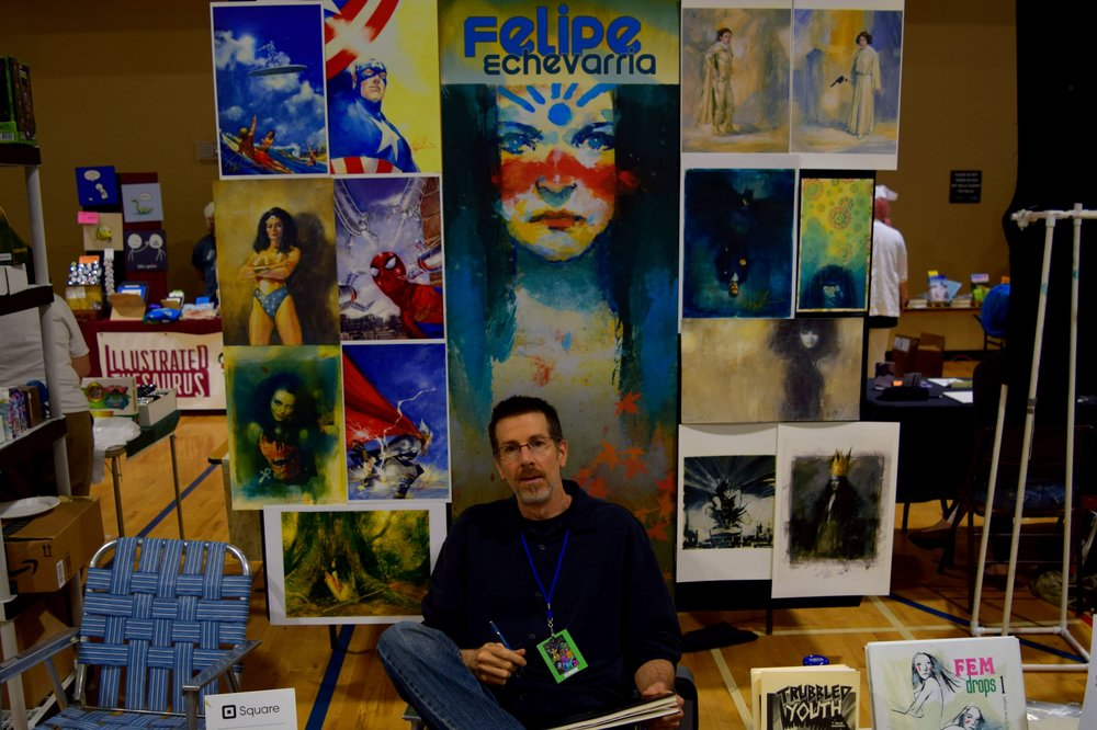 Felipe Echevarria at Fort Collins Comic Con 2016.