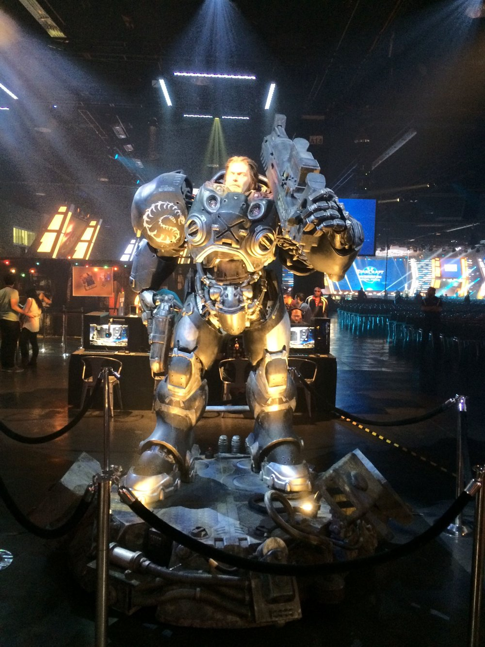 StarCraft statue at BlizzCon 2017.