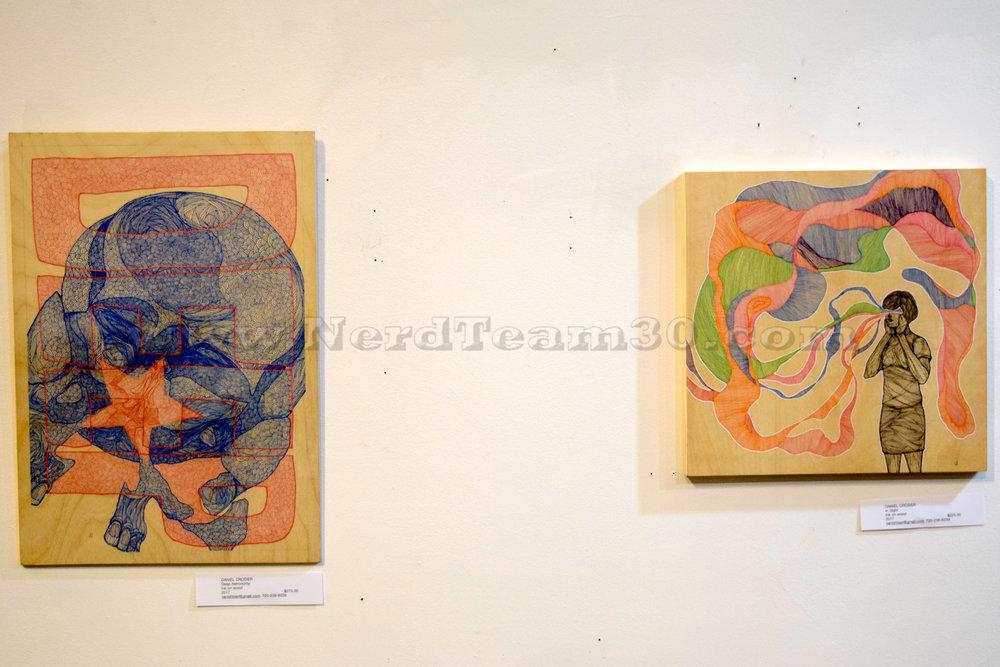 """Deep Astronomy"" & ""In Sight"" both done by Daniel Crosier"