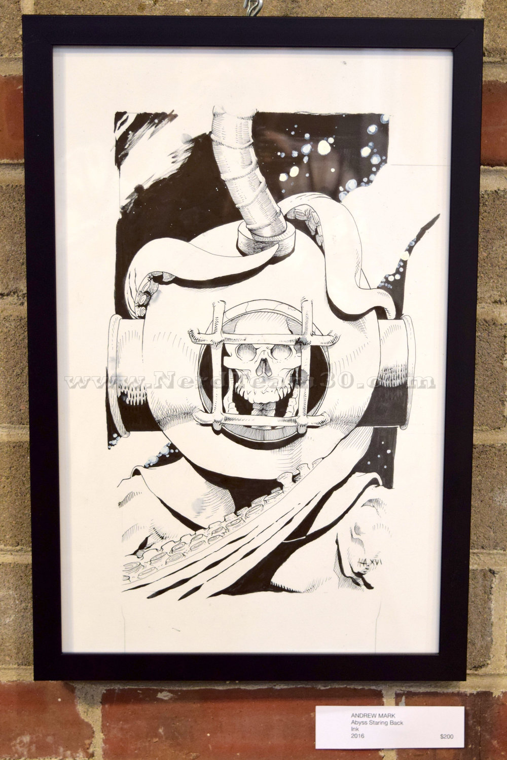 """Andrew Mark """"Abyss Staring Back"""" Ink 2016   $200"""