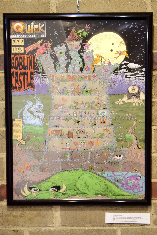 "Thane Benson ""Quick the Clockwork Knight & the Goblin Castle"" Print 2017   $40 ThaneBenson@gmail.com"