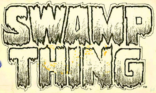 The Swamp Thing logo designed by Gaspar Saladino.