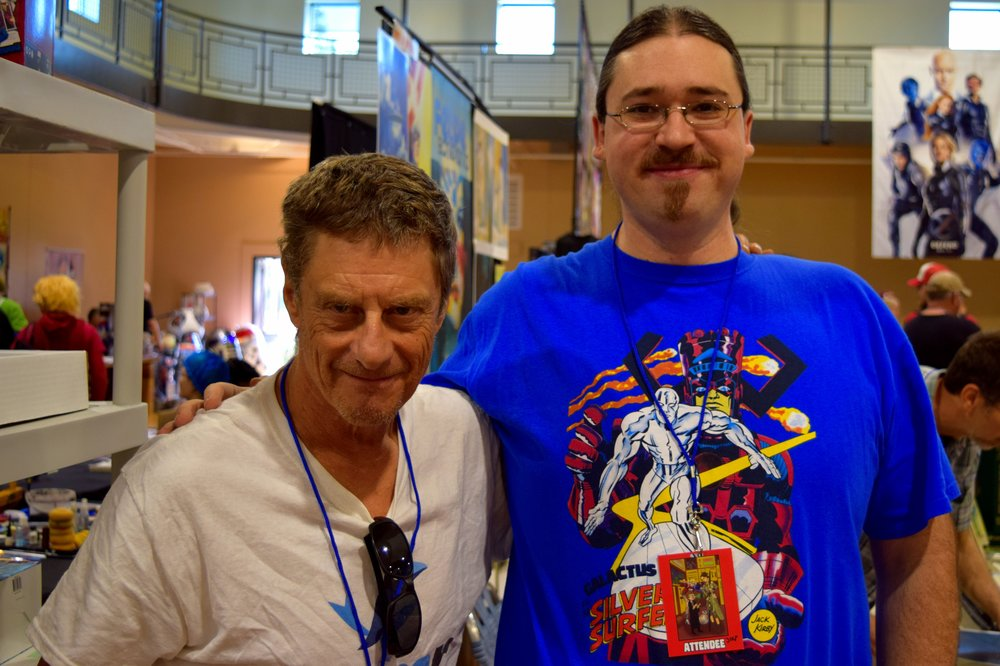 Mike Baron with Neil Greenaway at Fort Collins Comic Con 2016.