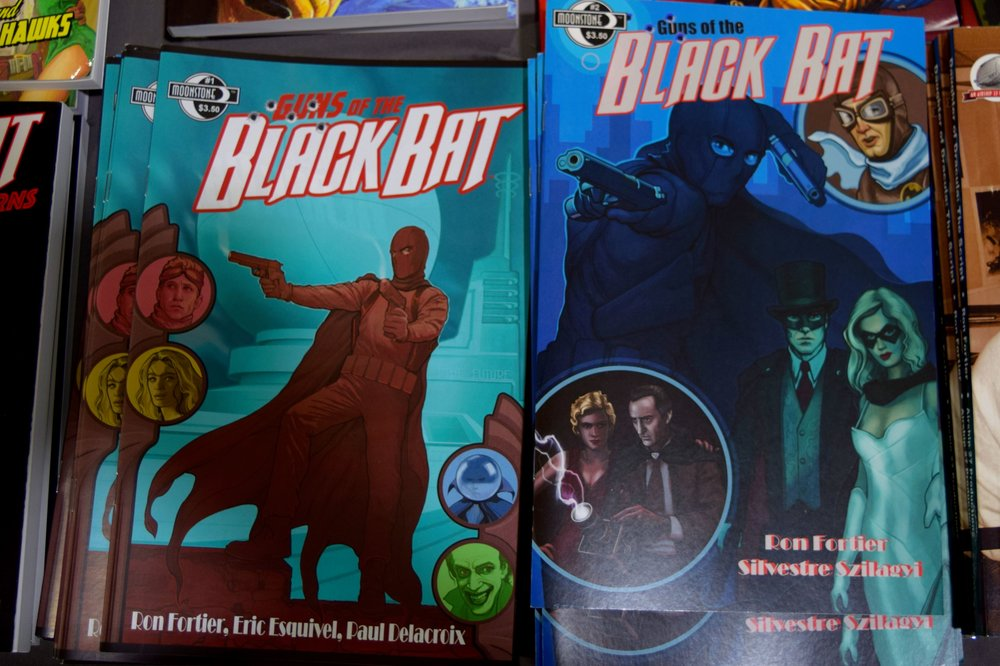 Black Bat comics from Ron Fortier at Fort Collins Comic Con 2016.