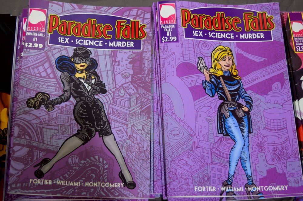 Paradise Falls comics from Ron Fortier and John Williams.