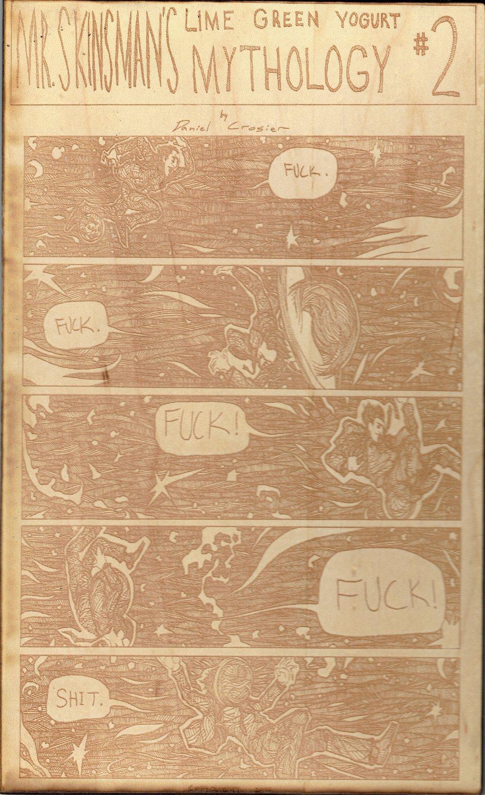 A page from Mr. Skinsman's Lime Green Yogurt Mythology #1 by Daniel Crosier.