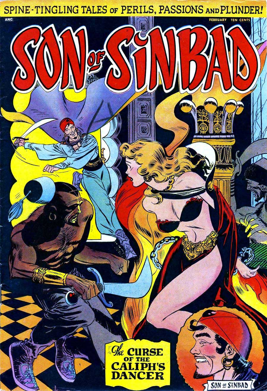Son of Sinbad (1950) #1 from ANC. Cover by Joe Kubert.
