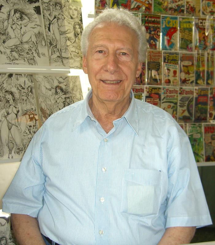 Joe Giella in 2009. (Photo credit to Luigi Novi)