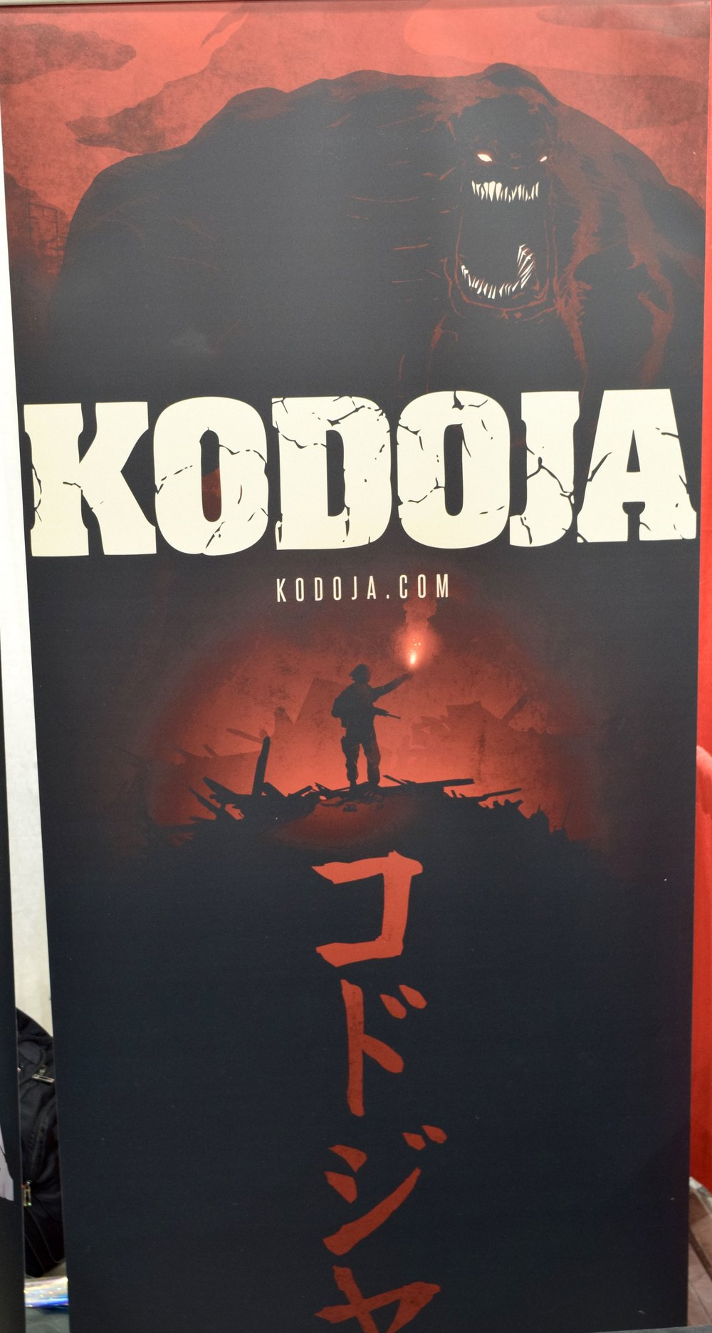 Kodoja banner at Phoenix Comic Con 2017.
