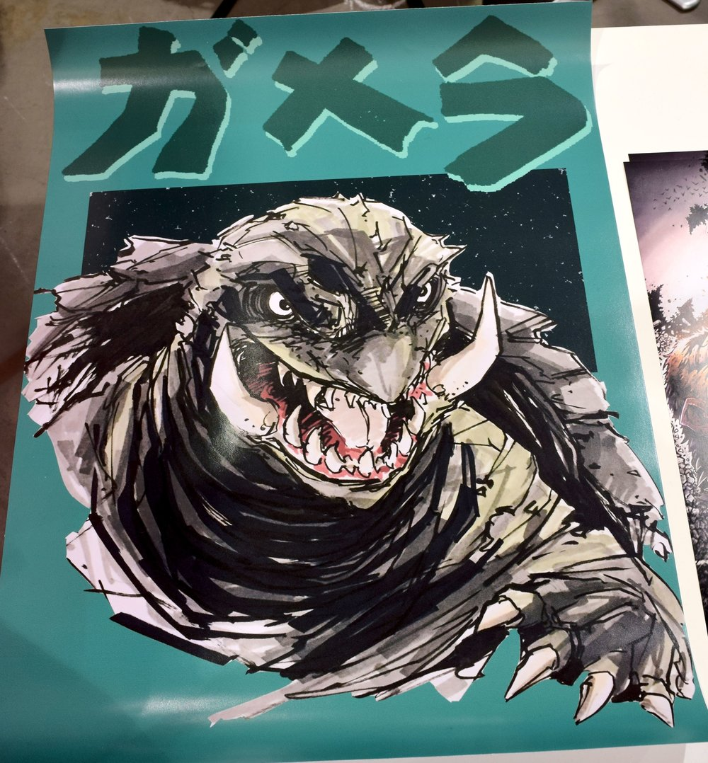 A kaiju poster at Phoenix Comic Con 2017.