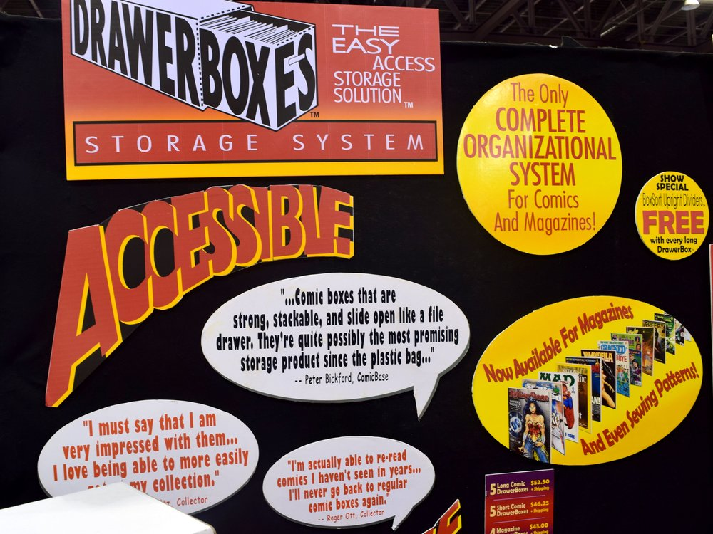 DrawerBox Storage System signs at Phoenix Comic Con 2017. (1)