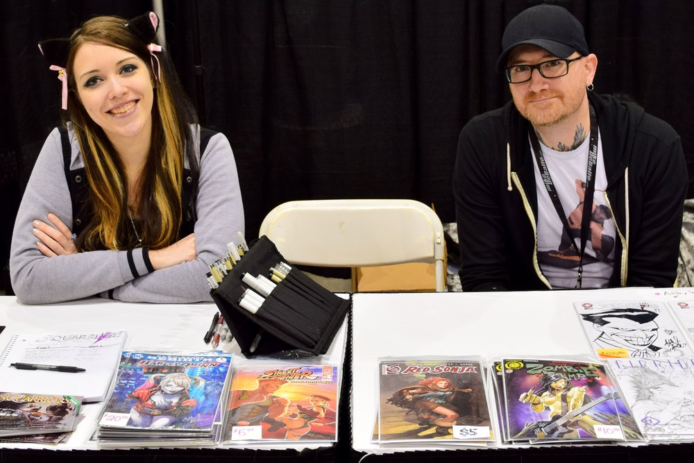 Ash Maczko & Ashley Witter at Phoenix Comic Con 2017.