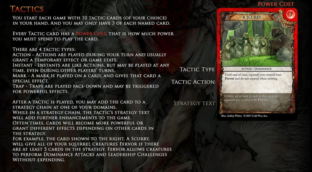 Different tactics in Squarriors: The Card Game from Cold War, Inc.
