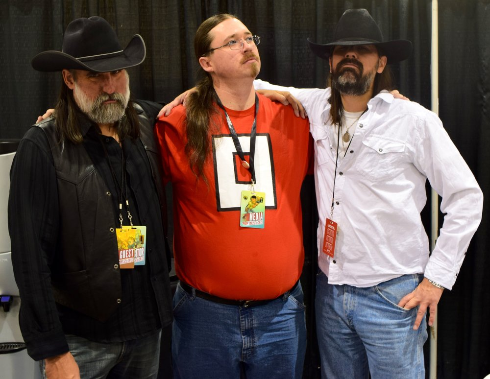 Matthew, Neil, and Shawn. Looking stoic at Phoenix Comic Con 2017.