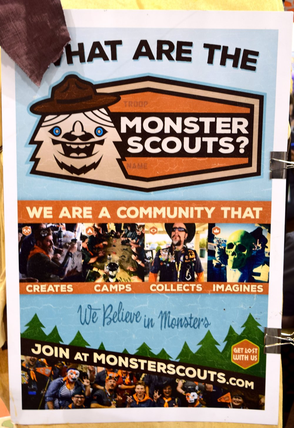 Monster Scouts poster at Phoenix Comic COn 2017.