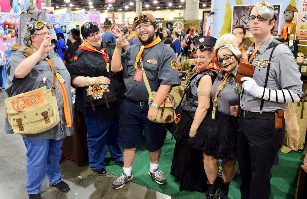 Monster Scouts Assemble at Phoenix Comic Con 2017.