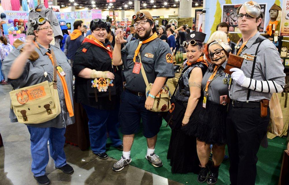 Monster Scouts Assemble! At Phoenix Comic Con 2017.