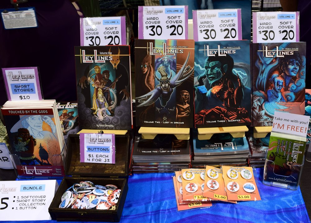 LeyLines books at Denver Comic COn 2017.