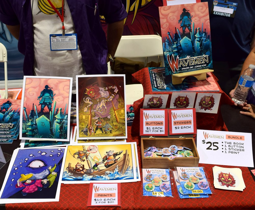 Wavemen comics and prints at Denver Comic Con 2017.