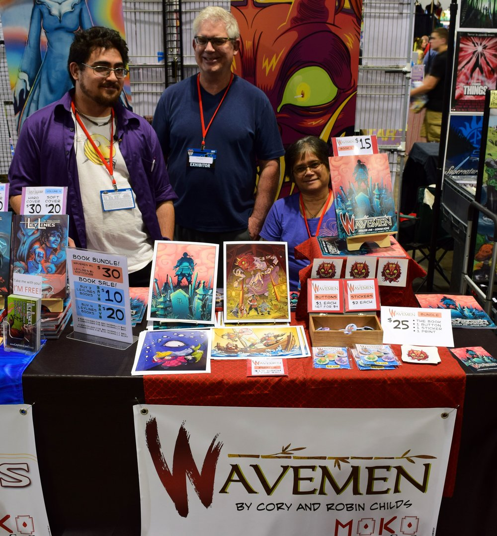 The Wavemen table at Denver Comic Con 2017.