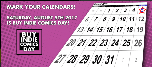 Buy Indie Comics Day 2017 banner.