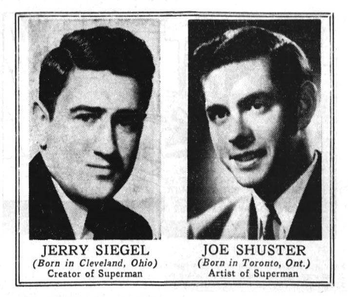 Jerry Siegel  and  Joe Shuster