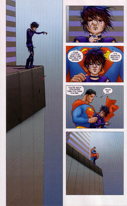 A page from All-Star Superman #10 by Grant Morrison and Frank Quitely.