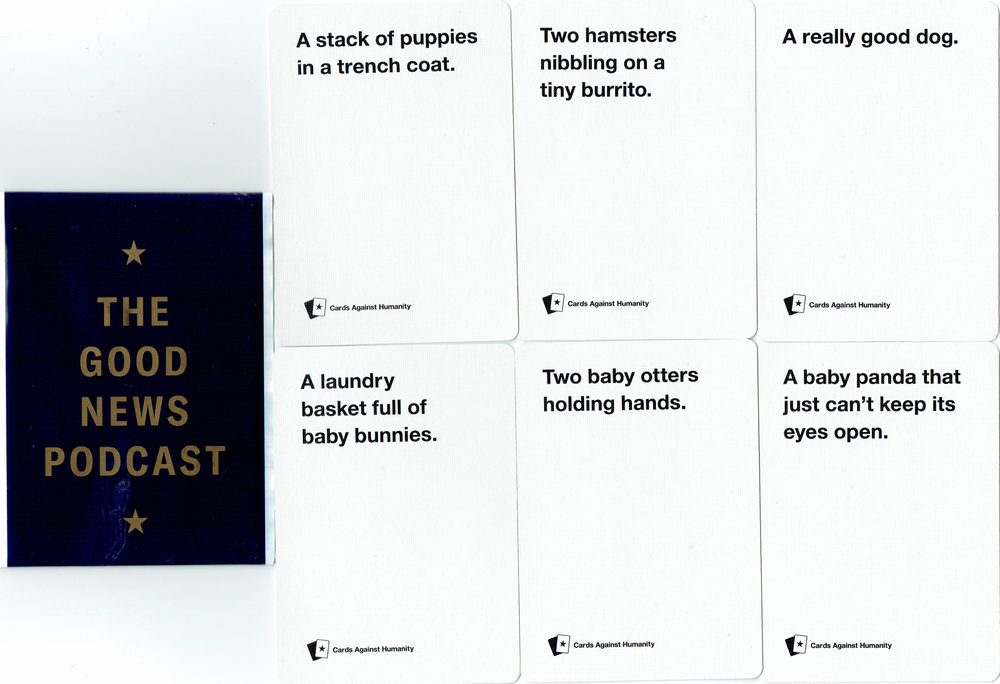 Cards Against Humanity Saves America Day Two Cards (fronts)