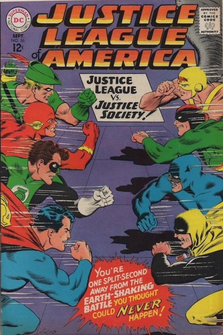 Justice League of America #56. Pencils by Carmine Infantino.