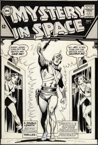 Carmine Infantino and Murphy Anderson original cover art for Mystery In Space #91.