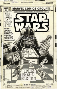 Carmine Infantino and Bob Wiacek original cover art for Star Wars #35.