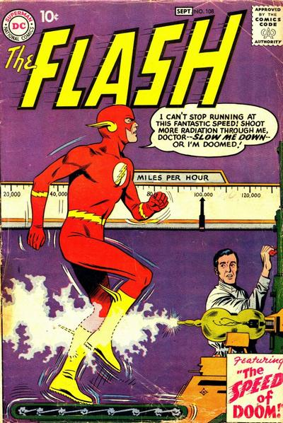 The Flash #108. Pencils by Carmine Infantino.