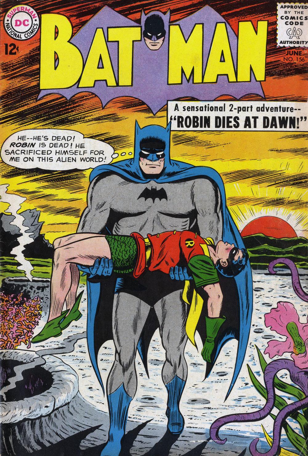 Batman #156. Cover pencils by Sheldon Moldoff.